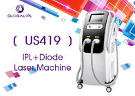 2 Handles Diode Hair Removal Laser Machine With White / Black Shell 10.4 Inch Screen