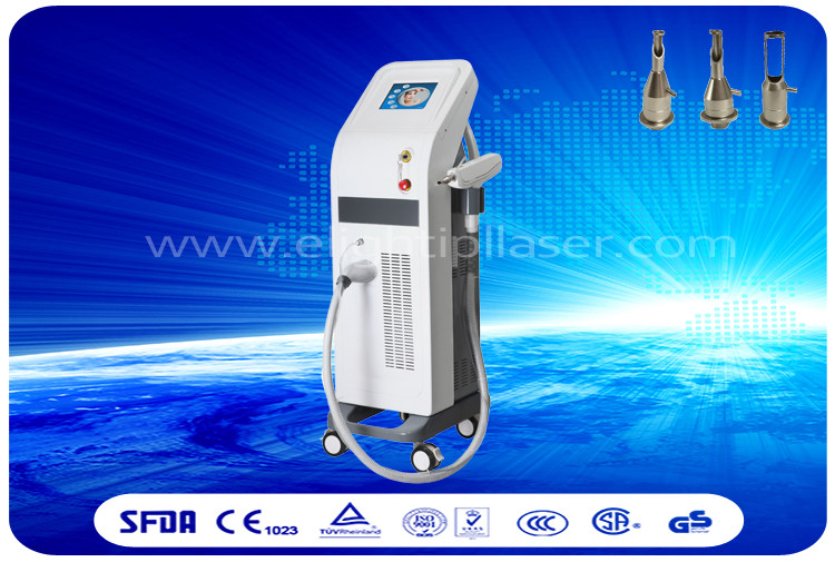 Three Treatment Head Nd Yag Laser Machine Two Wavelengths Tattoo Removal