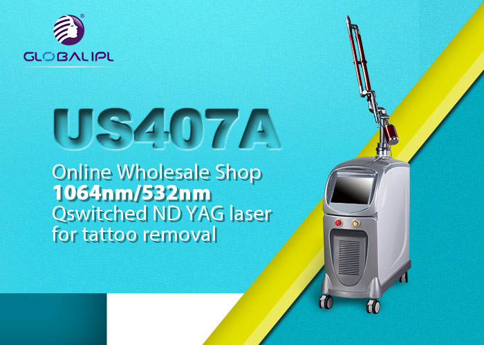 1064nm Q Switched Nd Yag Laser For Tattoo Removal Eliminate Pigment / Skin Rejuvenation