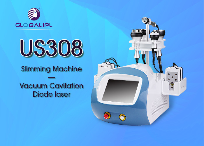 Beauty Salon Vacuum Cavitation System / Beauty Slimming Machine 6 Handles
