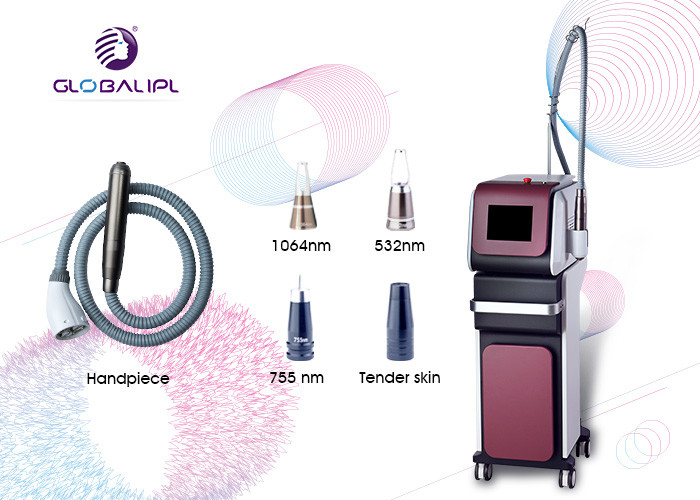 Pico Laser IPL RF Beauty Equipment Q Switch ND YAG Tattoo Removal Machine